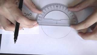 Como dibujar un pentagono regular inscrito en una circunferencia