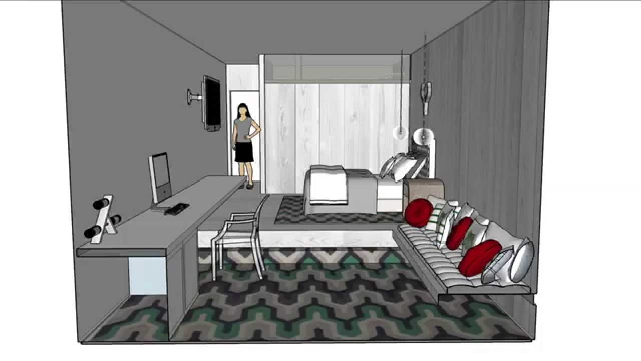 Sketchup hotel room youtube for Design hotel 21 bratislava