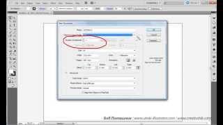 Создание документа в Adobe illustrator
