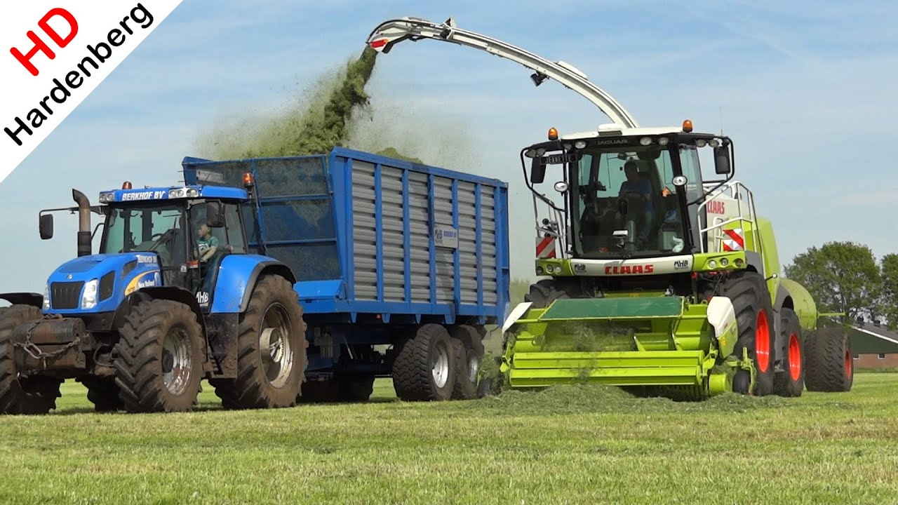 Claas Jaguar 950 Gras hakselen Grass silage Berkhof Scherpenzeel Netherlands 2015