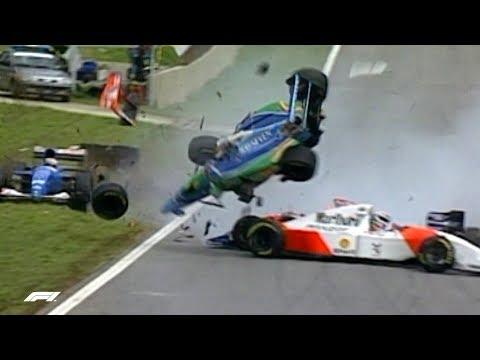 Martin Brundle Escapes Four Car Pile-up  | 1994 Brazilian Grand Prix