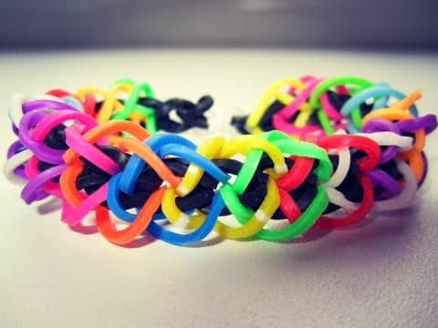 Плетение браслетов из резинки для начинающих