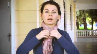 Как красиво завязывать платки, шарфы, палантины, шали