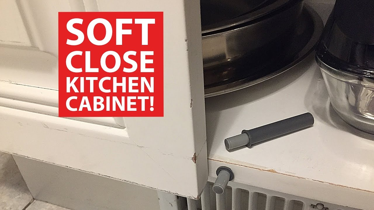 soft close KITCHEN CABINET DOORS (DIY retrofit) - YouTube