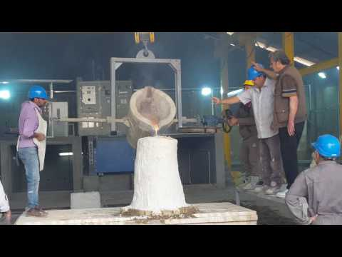 Inductotherm's 750kg - 350kw induction furnace / Iraq