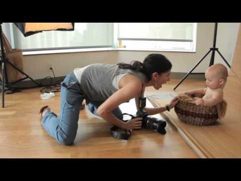 Как фотографировать детей до 1 года студийная съемка