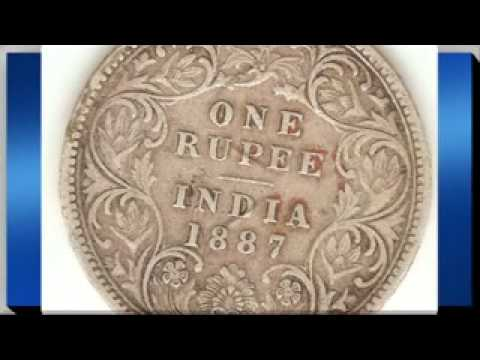 1887 British India Victoria Empress Silver Coin For Sale