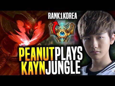 Peanut is Ready for Rank 1 Korea! - SKT T1 Peanut SoloQ Playing Kayn Jungle! | SKT T1 Replays