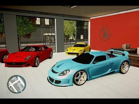 GTA MEGA SUPER ULTRA SPORT CARS GARAGE DEALER YouTube - Sports cars garage