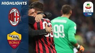 AC Milan 2-1 Roma | Cutrone Wins it Late for Milan | Serie A streaming