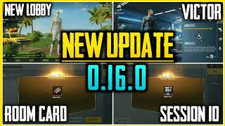 Pubg Mobile Lite New Update 0.16.0 Related Date || All New Feature New Lobby, Room Card, Victor ||