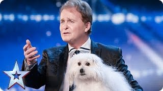 Marc Métral And His Talking Dog Wendy Wow The Judges  Audition Week 1  Britains Got Talent 2015
