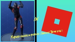 FORTNITE DANCES IN ROBLOX! (Caillou Theme Song)
