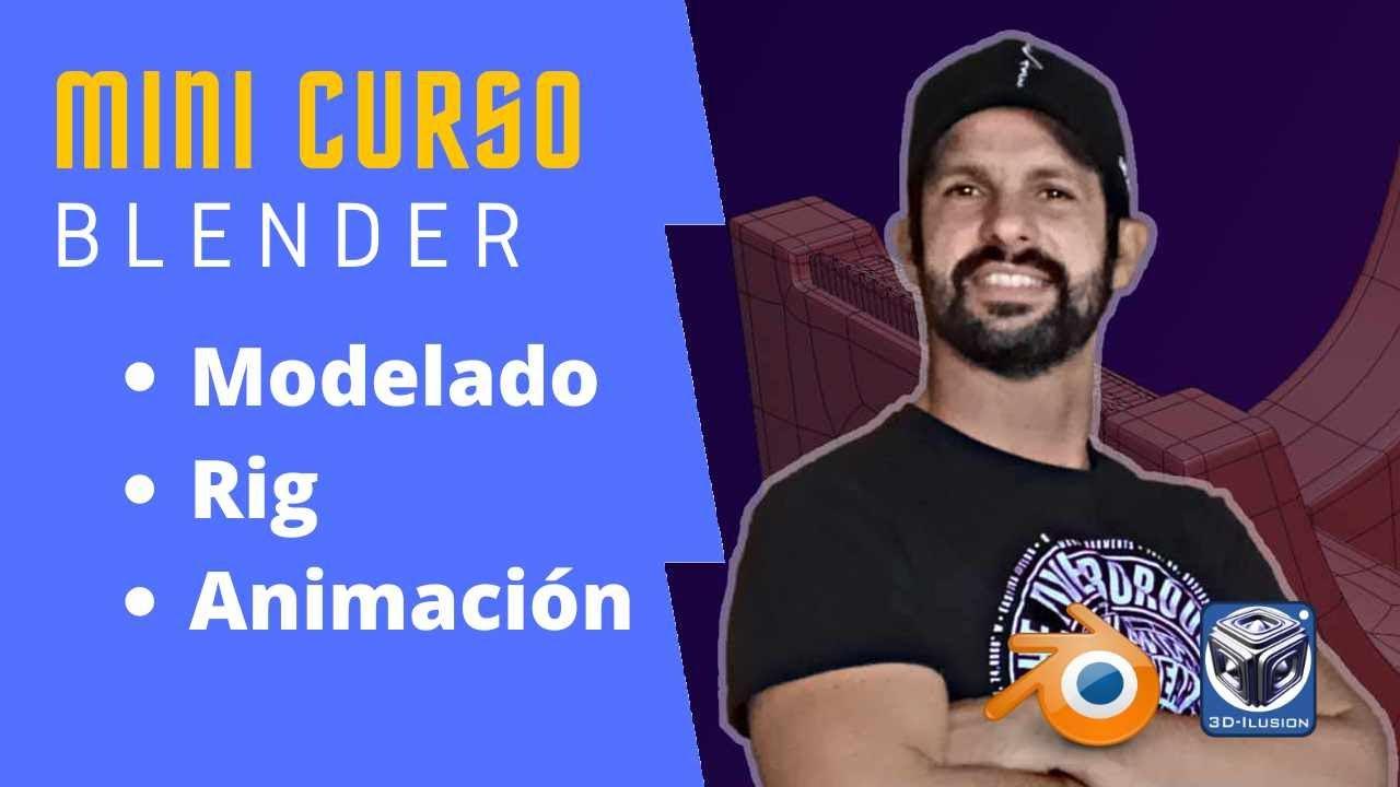Download Blender Mini curso de Modelado, Rig y animación completo Tutorial en Español