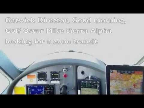 GATWICK ZONE TRANSIT ATC RT CALLS