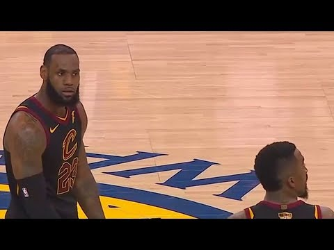 LeBron James Shocked Reaction At JR Smith Costing The Cavaliers Game 1 Of The 2018 NBA Finals!