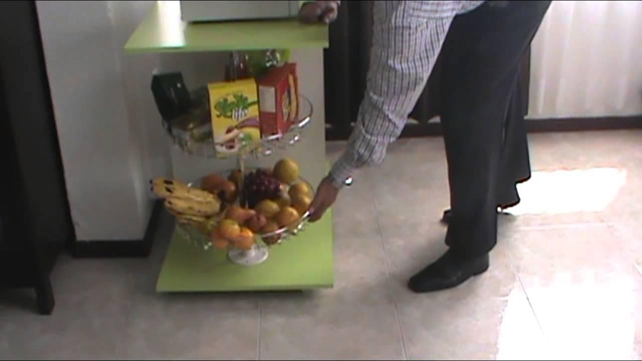 Mueble auxiliar para cocina con torno metalico youtube - Muebles para frutas ...