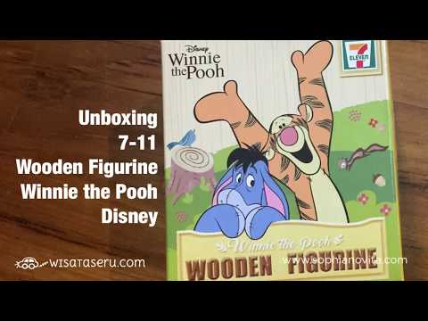 Unboxing 7-11 SG Wooden Figurine/Disney/Winnie the Pooh Series for Musical Box