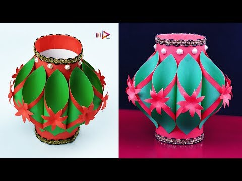 Easy Making Paper Flower Vase | Handmade Beautiful Paper Flower Vase at Home | Simple Paper Craft
