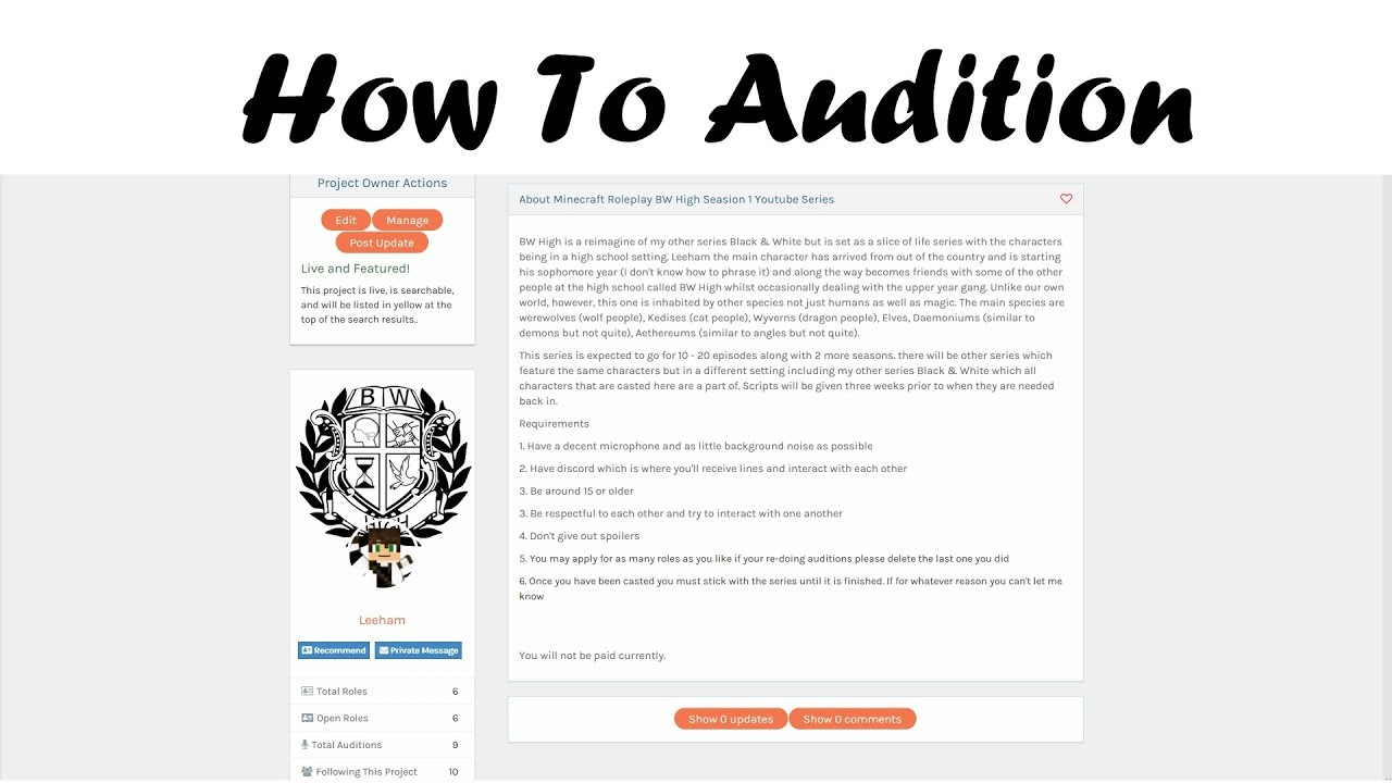 How to Audition on Casting Call Club