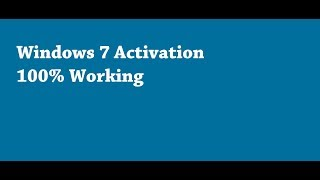 windows 7 ultimate activation for free 100% working HD [2019 Latest