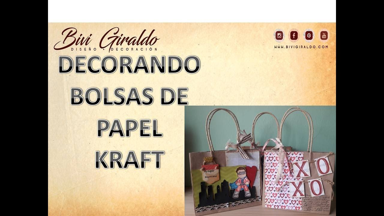 Como Decorar Una Bolsa De Papel Kraft