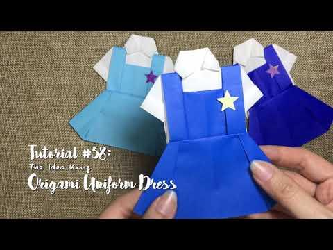 How to DIY Origami Uniform Dress? | The Idea King Tutorial #58