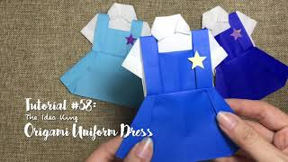 How to DIY Origami Uniform Dress? | The Idea King Tutorial #58