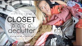 HUGE KONMARI METHOD CLOSET DECLUTTER   /  /  MY MINIMALIST JOURNEY