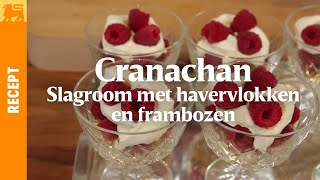 Cranachan - Slagroom met havervlokken en frambozen