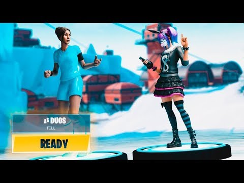 I played Fortnite with a GIRL?! (Random duos with Maddynf)