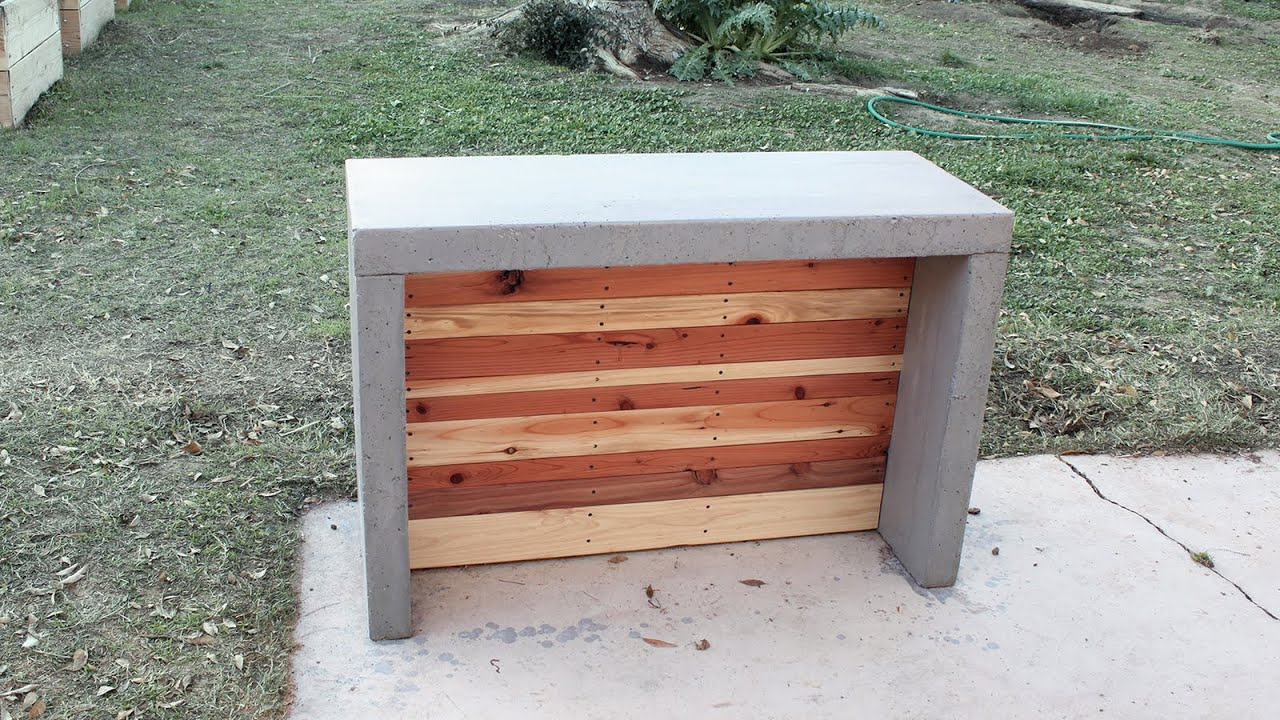 How To Make Concrete Countertops For An Outdoor Bar Or Kitchen Youtube