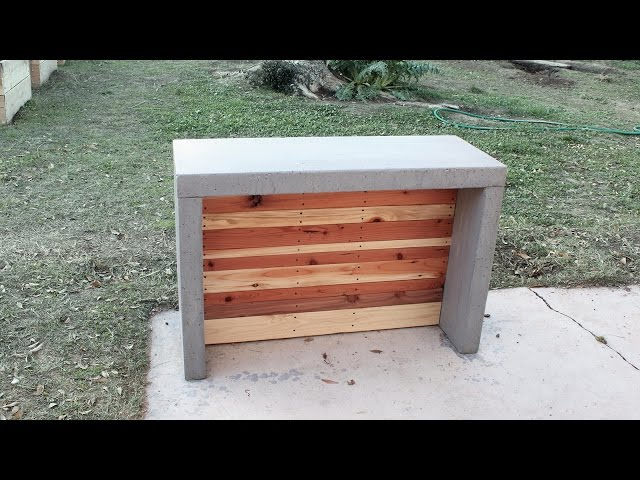 Do It Yourself Outdoor Bar: How To Make Concrete Countertops For An Outdoor Bar Or Kitchen
