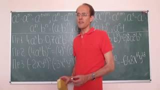 Математика это просто. Одночлены и многочлены 1.