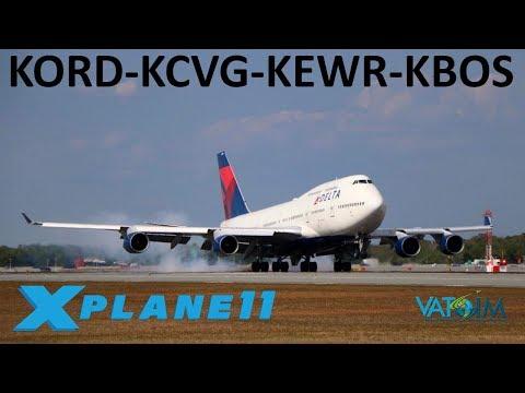 X-Plane 11 | 18K Sub Celebration!! | B748i | VATSIM | Chicago, Cincinnati, Newark & Boston!!