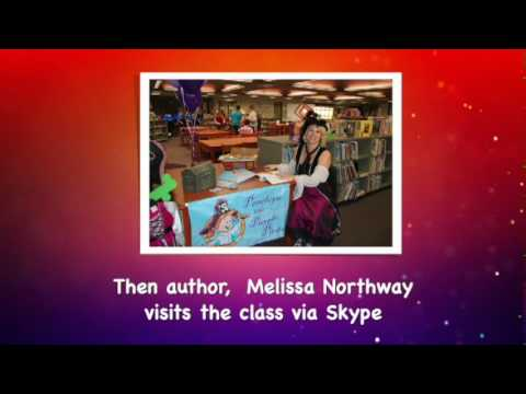 Author Melissa Northway Skypes with Jessieville Elementary School about Penelope the Purple Pirate