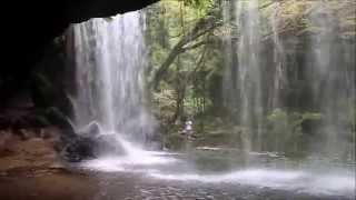 「おーいお茶」「生茶」のCMロケ地になった鍋ヶ滝に行って、滝の裏側...