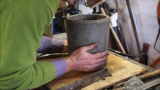 Molding a new crucible for metal casting
