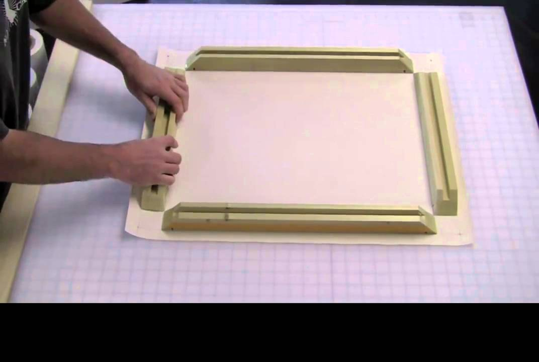 stretching canvas with sunset stretcher bars youtube. Black Bedroom Furniture Sets. Home Design Ideas