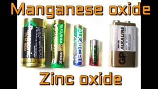 How to scrap discharged alkaline battery for Manganese oxide and Zinc oxide