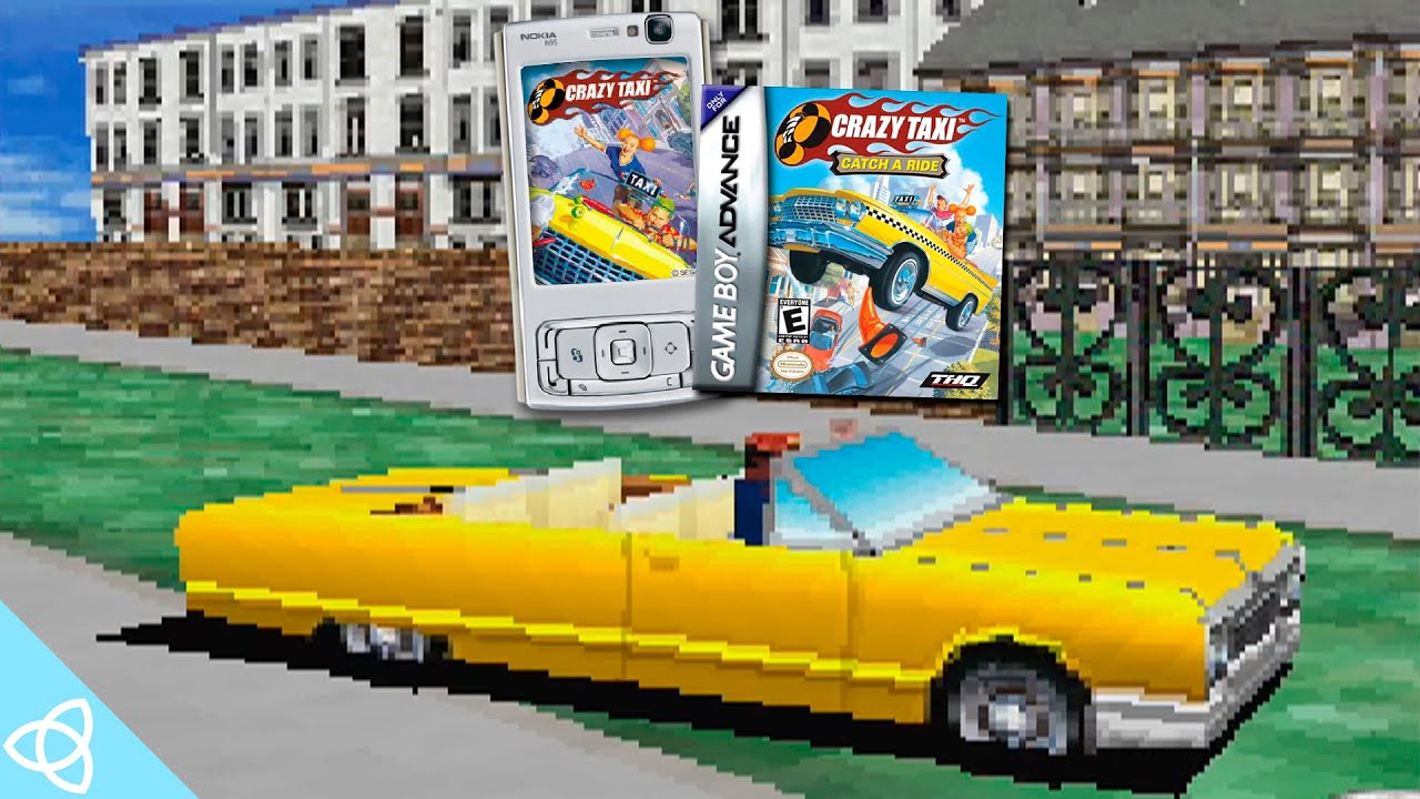 Crazy Taxi (Java Mobile and GBA Gameplay)   Demakes #61