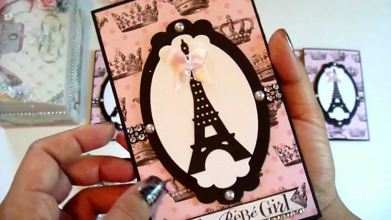 Parisian Interactive Birthday Invitations Altered Blinged Out - Creative diy birthday invitations in a box
