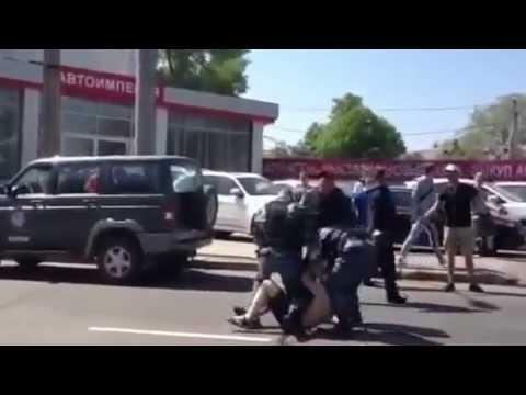 Police taser violence in Donetsk, Ukraine EURO2012