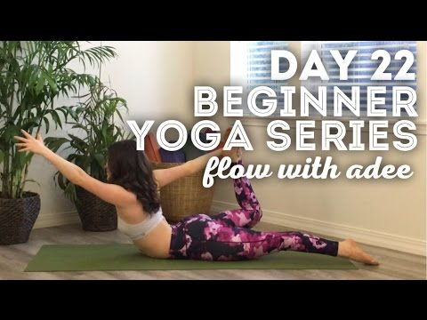 DAY 22/30 Beginner Yoga Series | Go With The Flow - PakVim