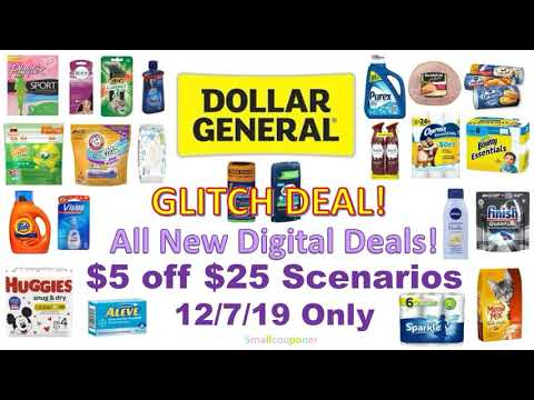 Dollar General $5 off $25 Scenarios 12/7/19! All Digital Deals!