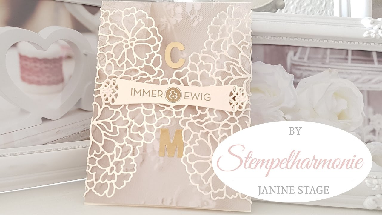immer und ewig einladung zur hochzeit stampin 39 up spellbinders youtube. Black Bedroom Furniture Sets. Home Design Ideas