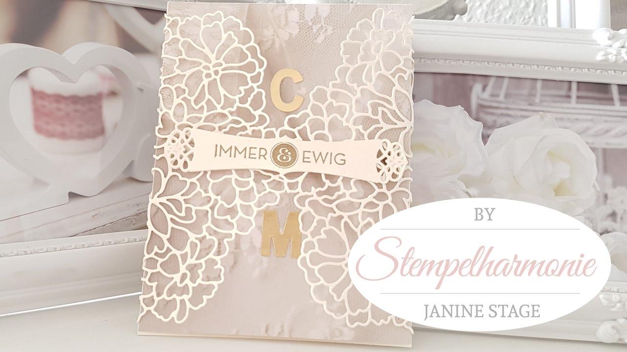 Immer und Ewig  Einladung zur Hochzeit selber basteln  DIY  Stampin Up  Stempelharmonie