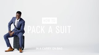 How to Pack a Suit in a Carry-On Bag