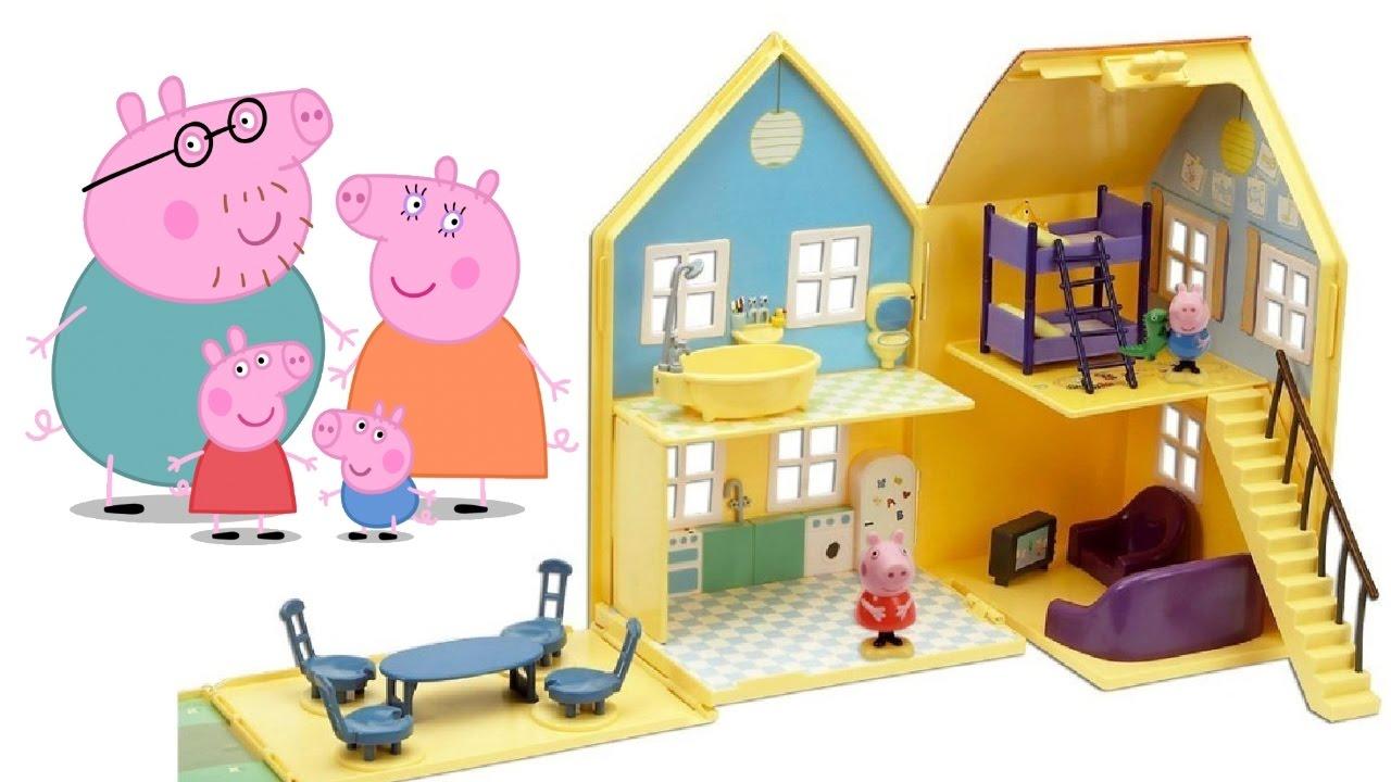 GRANDE CASA DI PEPPA PIG italiano giochi per bambini toc toc possiamo entrare Peppa  YouTube