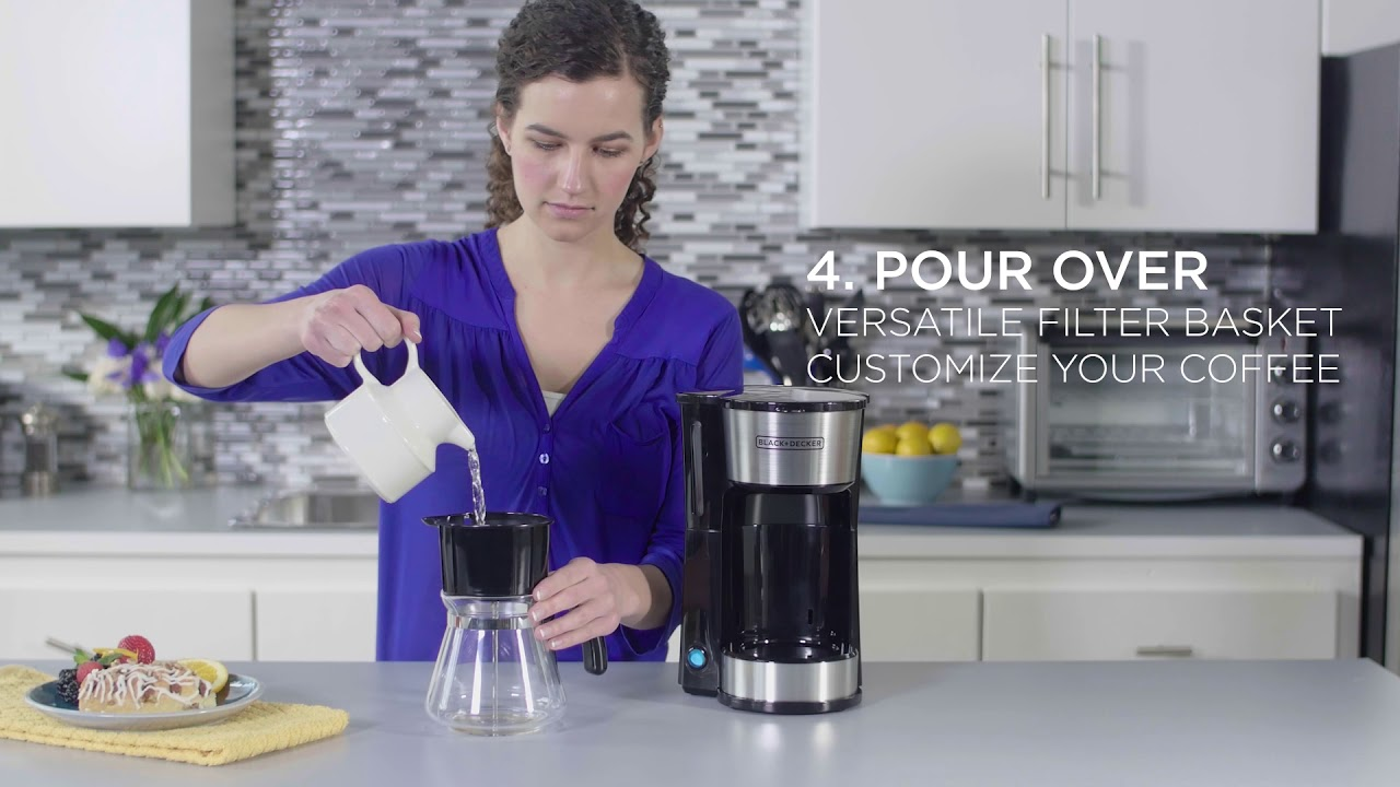 2a572069731 Black+Decker 4-in-1 5-Cup  Station Coffeemaker - YouTube
